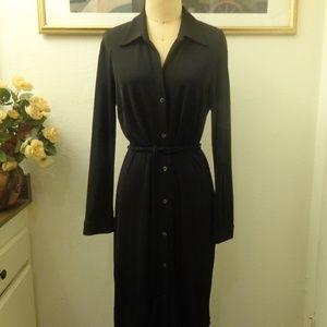 A.B.S by Allen Schwartz Long Sleeve Black Dress